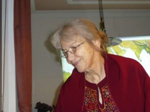 Margret Bergmann im Bärenclub Bozen